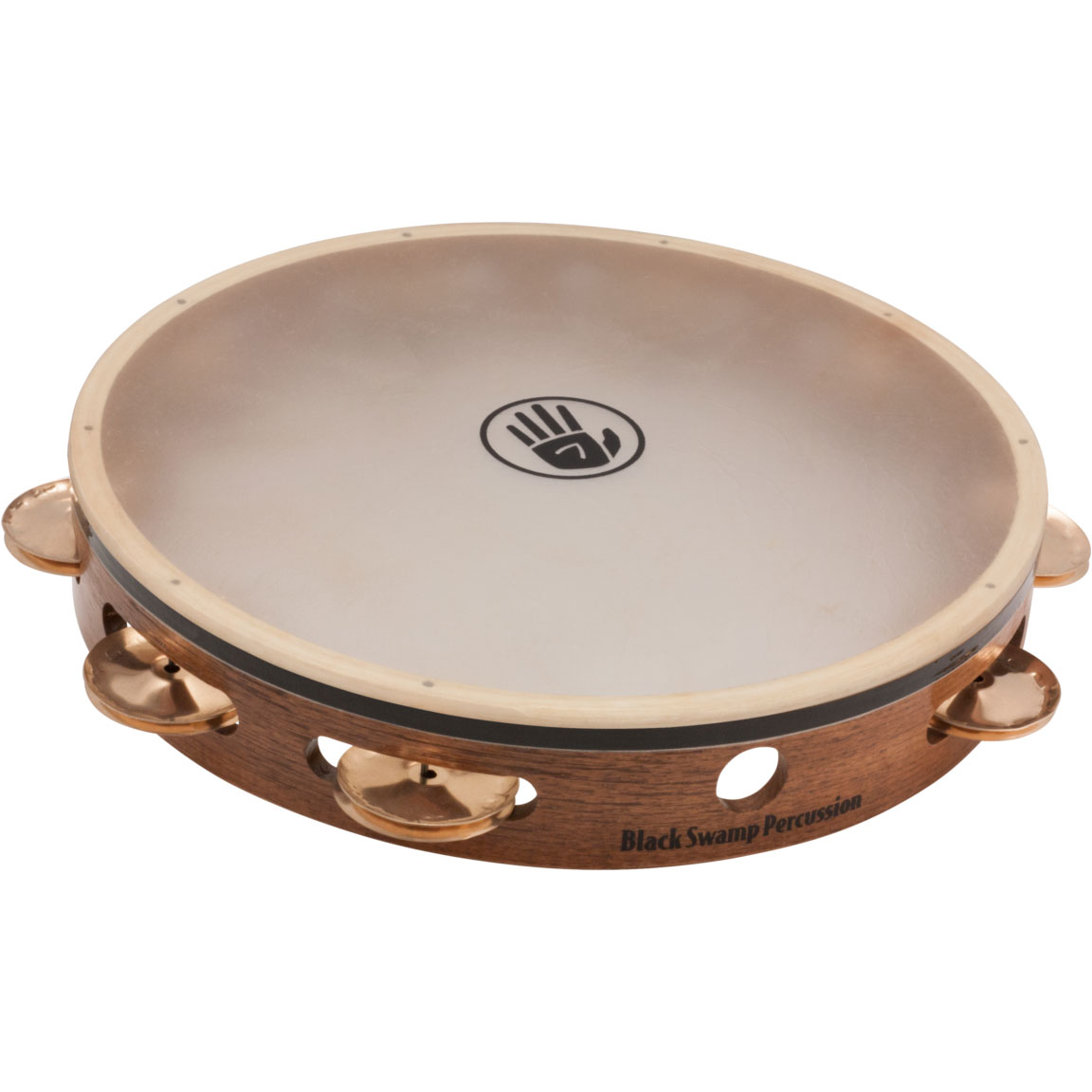"Black Swamp 10"" SoundArt Single-Row Beryllium Copper Tambourine (Natural Head)"