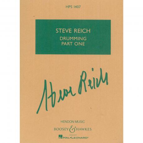 Drumming - Part One by Steve Reich (Score Only)