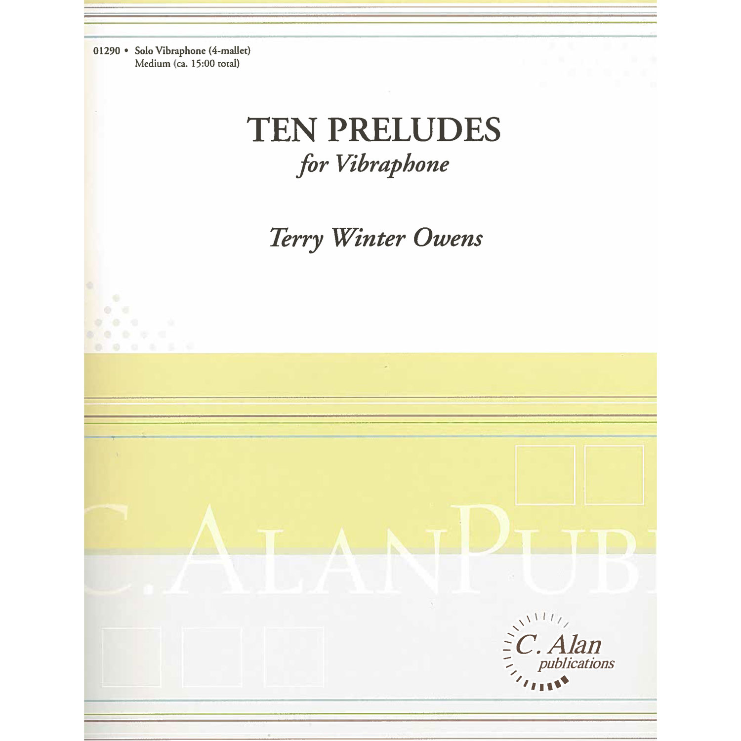 Ten Preludes for Vibraphone by Terry Winter Owens
