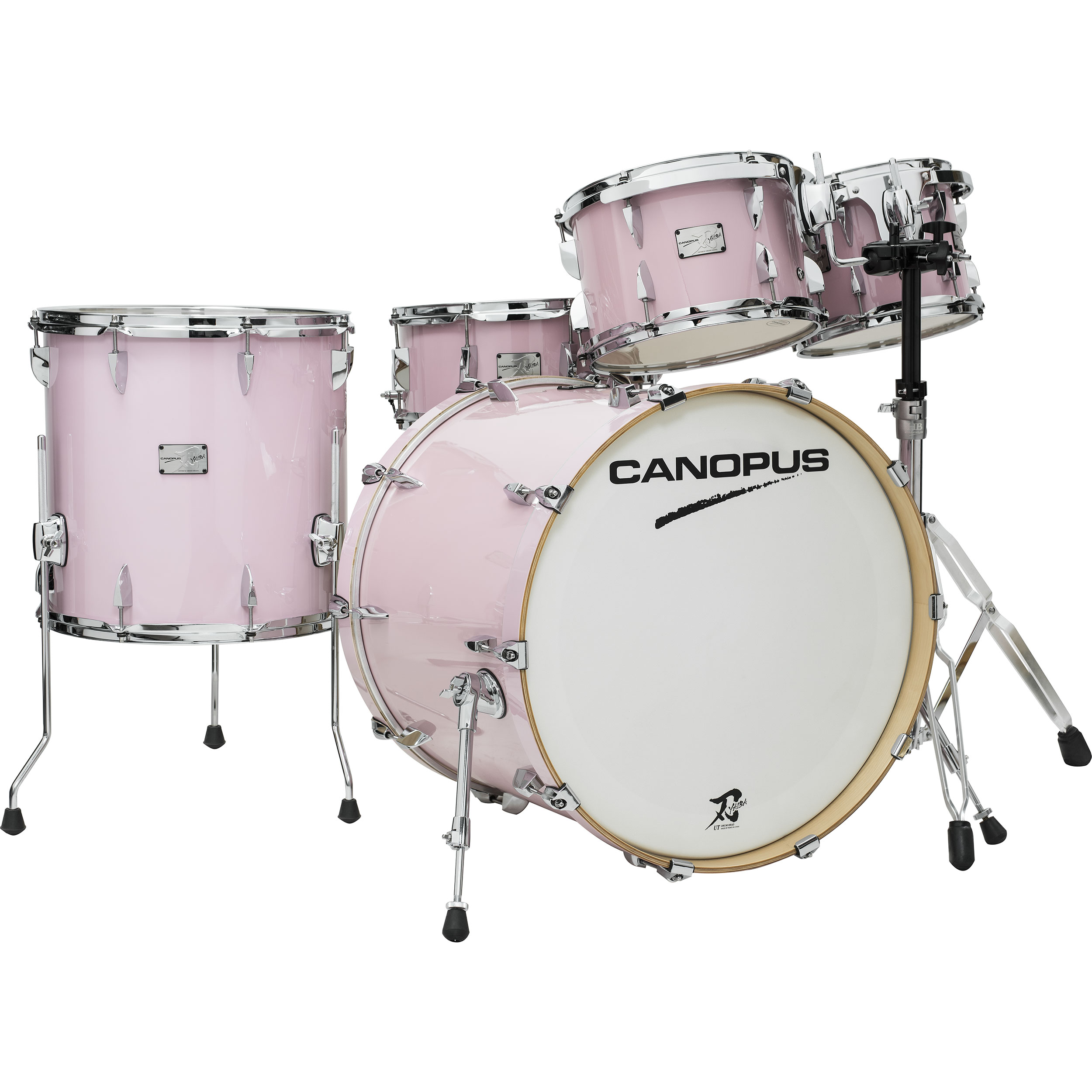 "Canopus One-of-a-Kind Yaiba ""Groove Kit"" 5-Piece Drum Set Shell Pack (22"" Bass, 10/12/16"" Toms, 14"" Snare) in Pink"