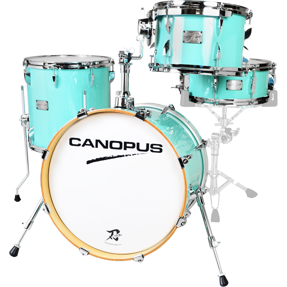 "Canopus One-of-a-Kind Yaiba ""Bop Kit"" 4-Piece Drum Set Shell Pack (18"" Bass, 12/14"" Toms, 14"" Snare) in Surf Green"