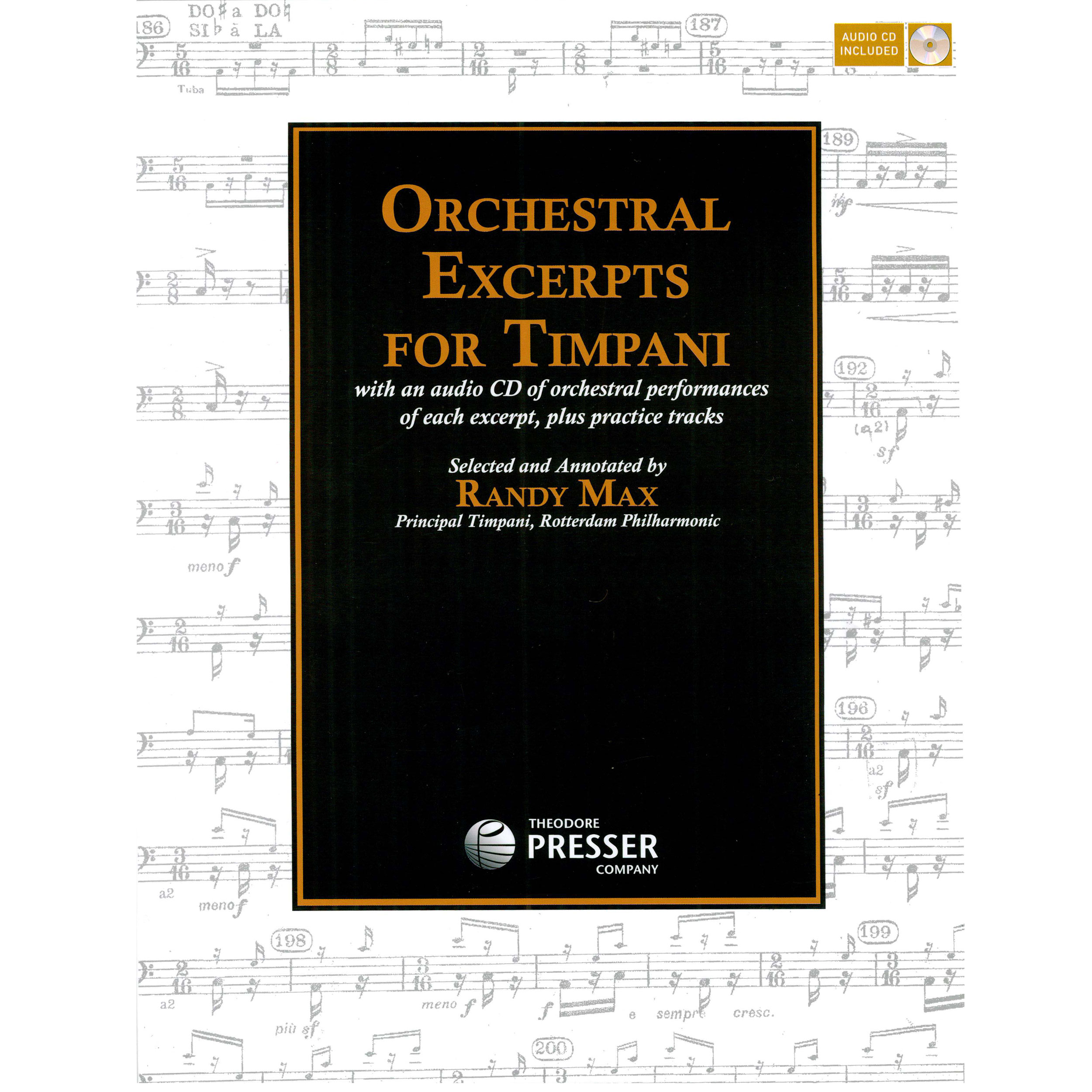 Orchestral Excerpts for Timpani by Randy Max