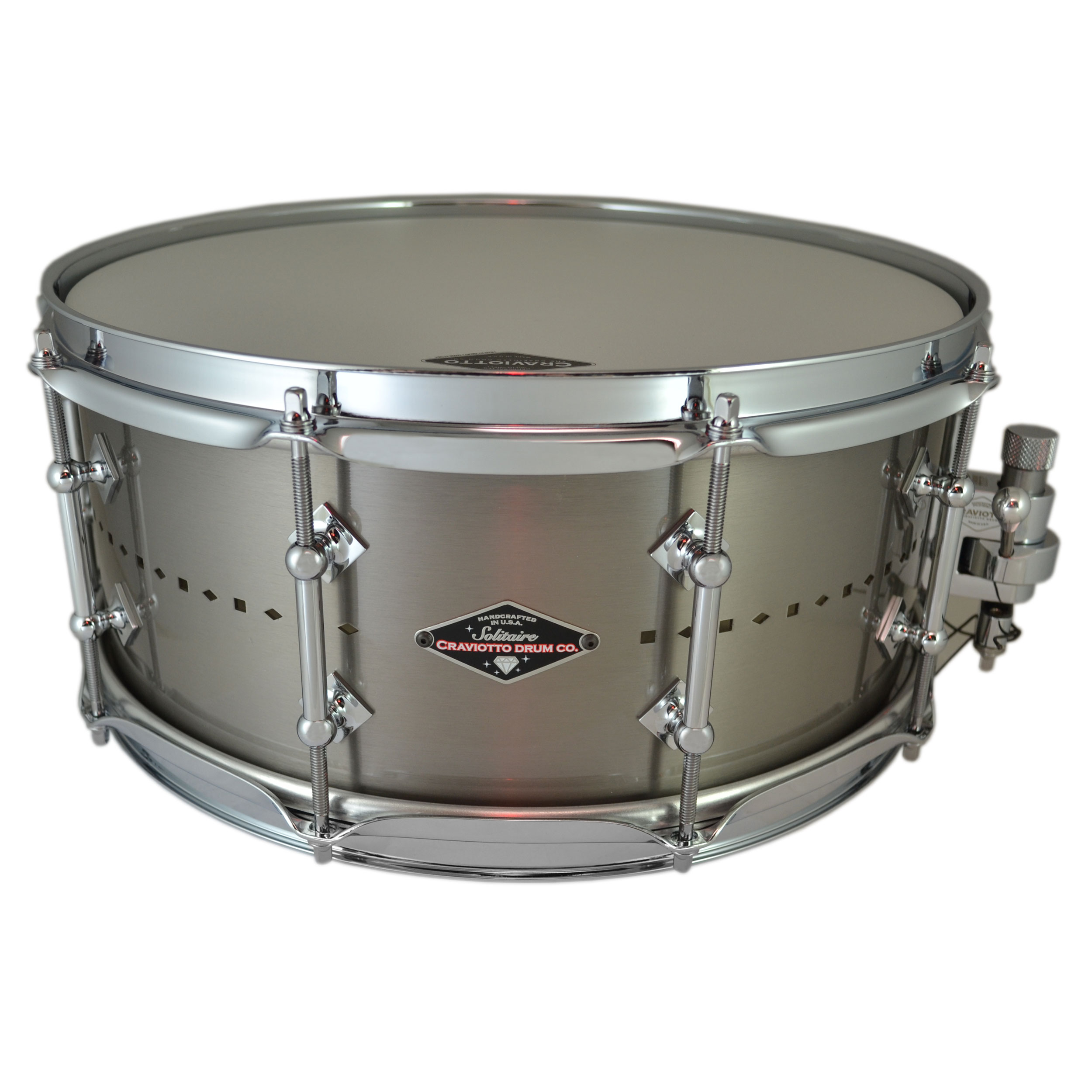 "Craviotto 6"" x 14"" Solitaire Vented Titanium Snare Drum"
