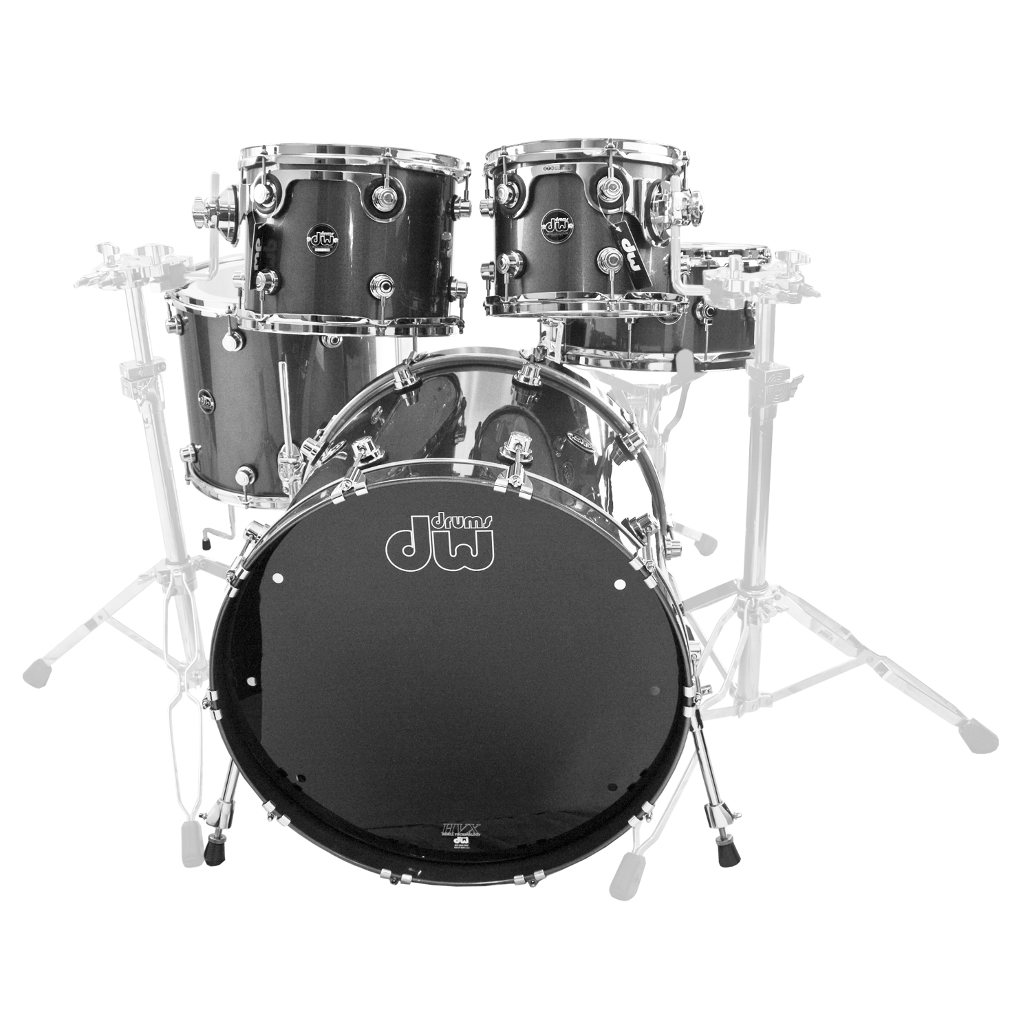 """DW Performance 5-Piece Drum Set Shell Pack (22"""" Bass, 10/12/16"""" Toms, 14"""" Snare)"""