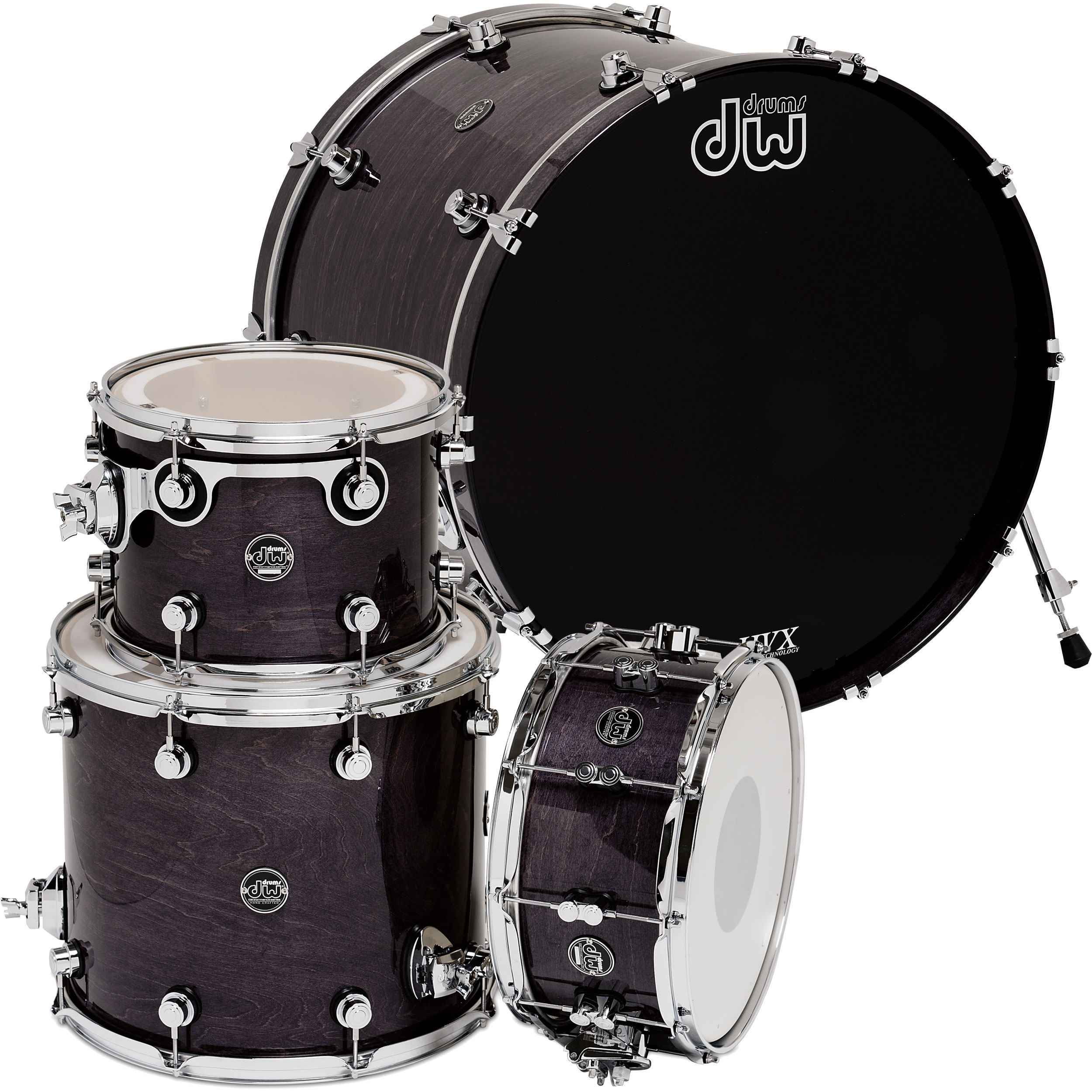 """DW Performance 4-Piece Drum Set Shell Pack (22"""" Bass, 12/16"""" Toms, 14"""" Snare)"""