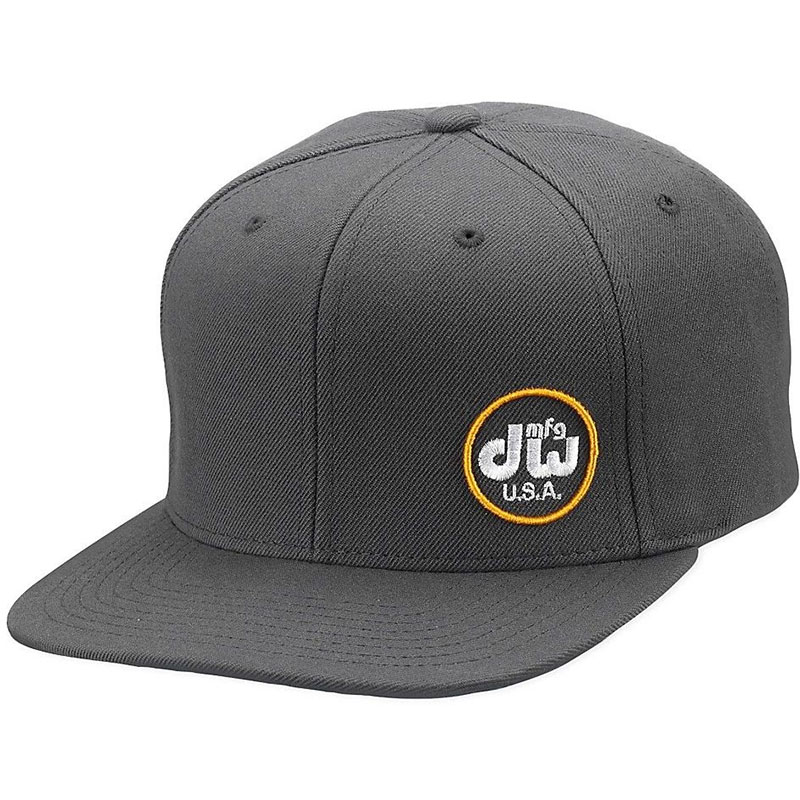 DW Gray Snapback MFG Cap with Yellow Logo
