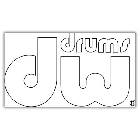 DW White Bass Drum Sticker