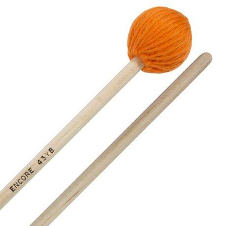 Encore Orange Med-Soft Yarn Wound Keyboard Mallets with Birch Shafts