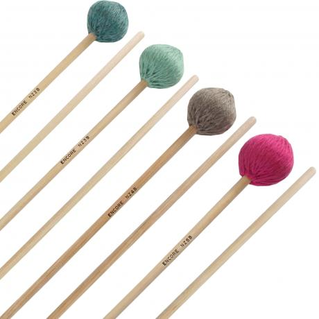 Encore Nancy Zeltsman Signature Marimba Mallet Graduated Set with Birch Shafts