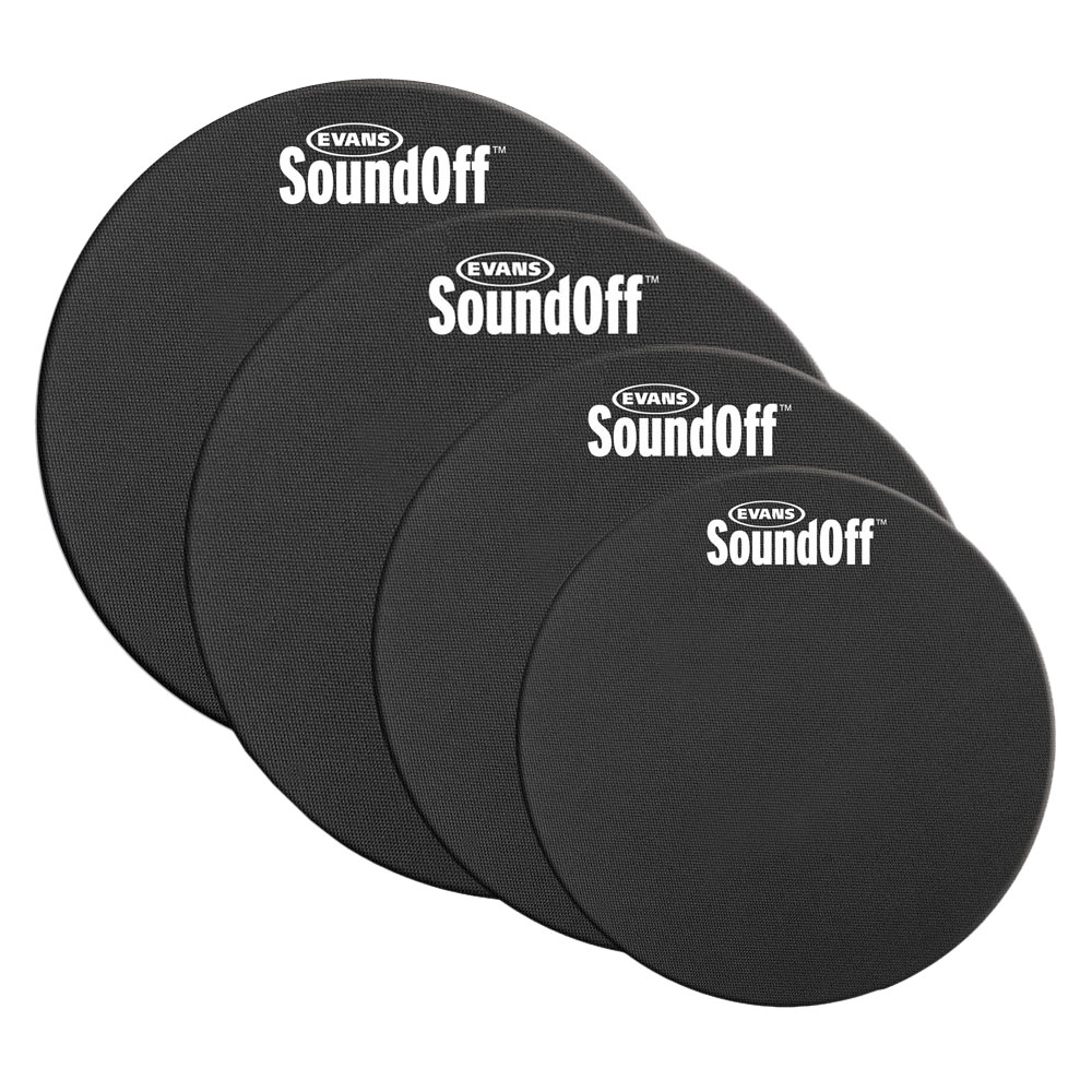 "Evans 10-12-14-14"" Sound Off Drum Mute Pack"