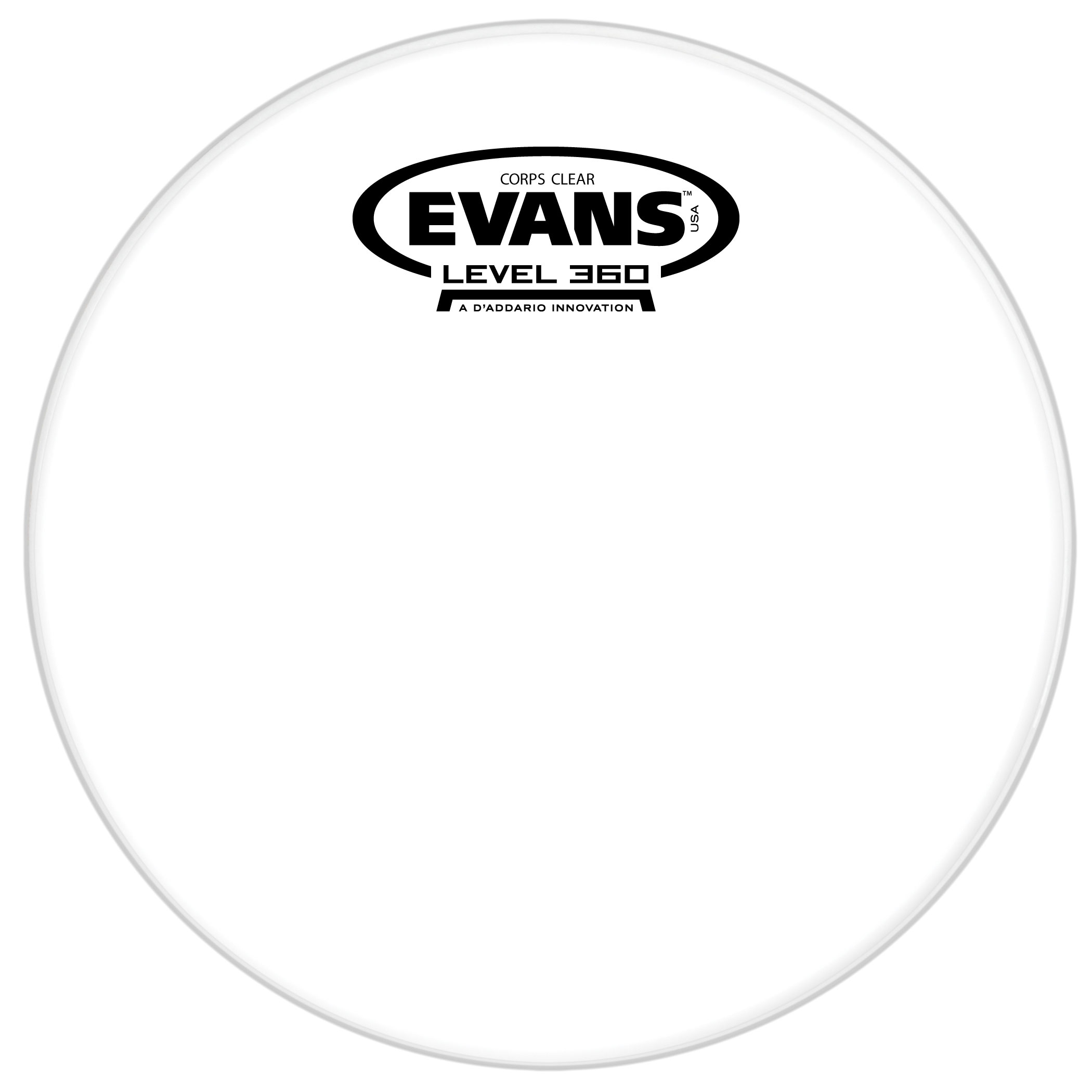 "Evans 12"" Corps Clear Marching Tenor Head"