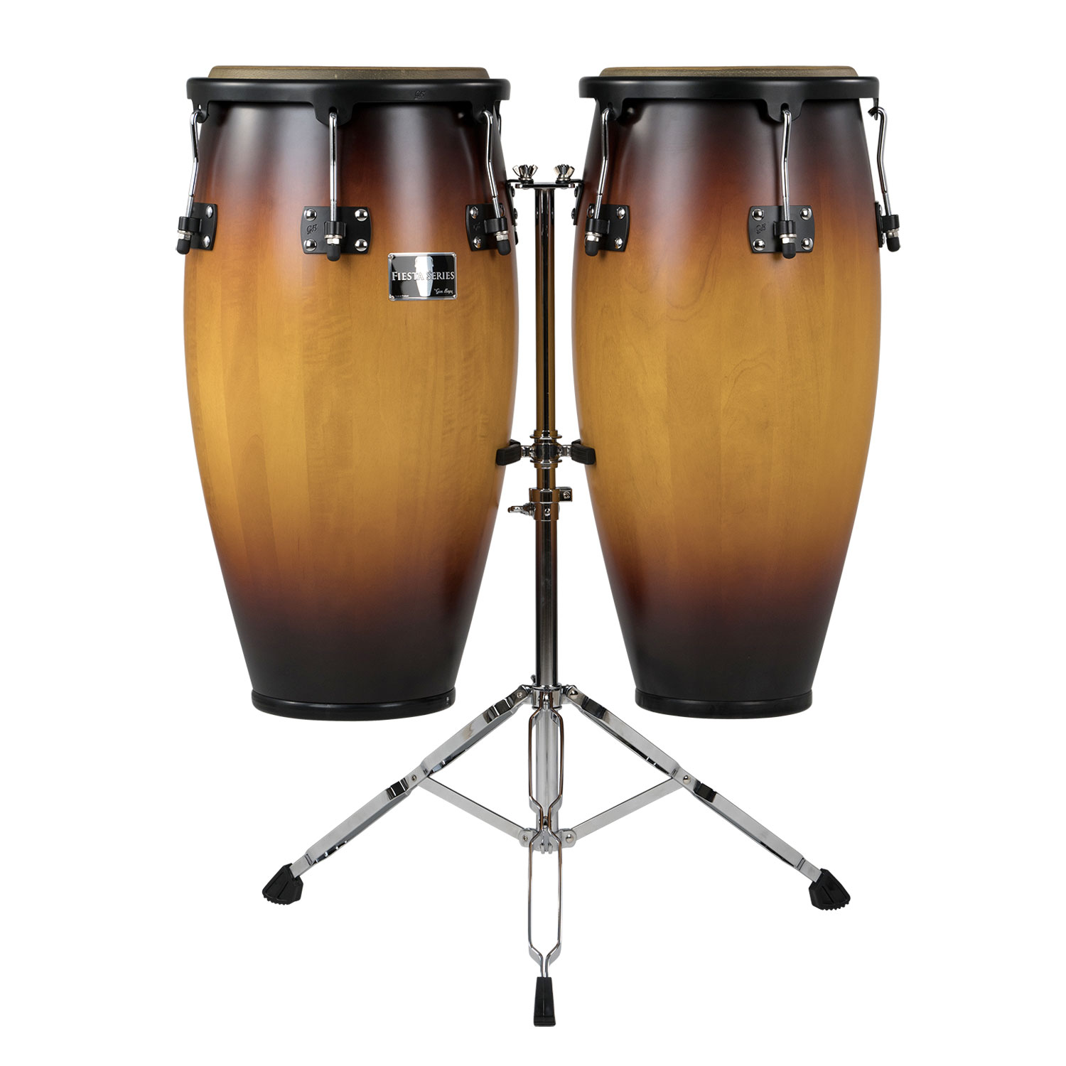 "Gon Bops 11"" & 12"" Fiesta Series Conga Set in Sunburst with Stand"