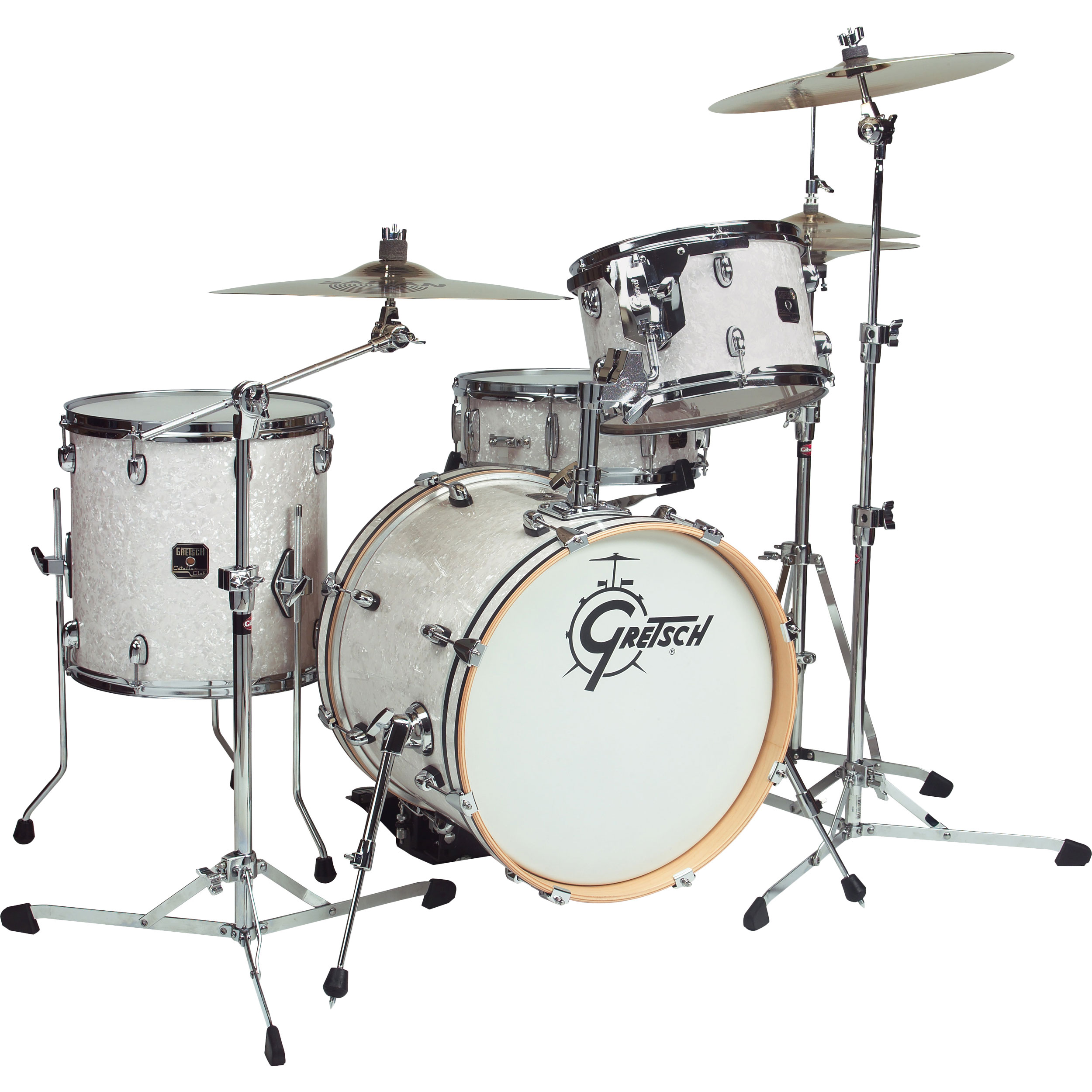gretsch catalina club jazz 4 piece drum set shell pack 18 bass 14 snare 12 14 toms cc j484. Black Bedroom Furniture Sets. Home Design Ideas