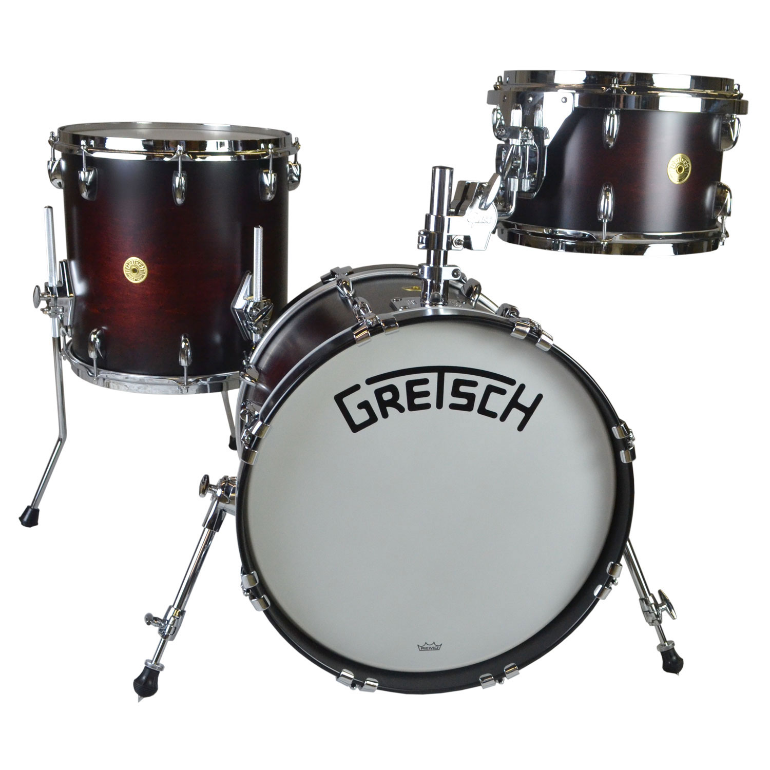 "Gretsch Broadkaster 3-Piece Drum Set Shell Pack (18"" Bass, 12/14"" Toms) in Satin Chestnut Duco"