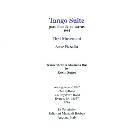 Tango Suite Mvt. I by Astor Piazzolla arr. Kevin Super
