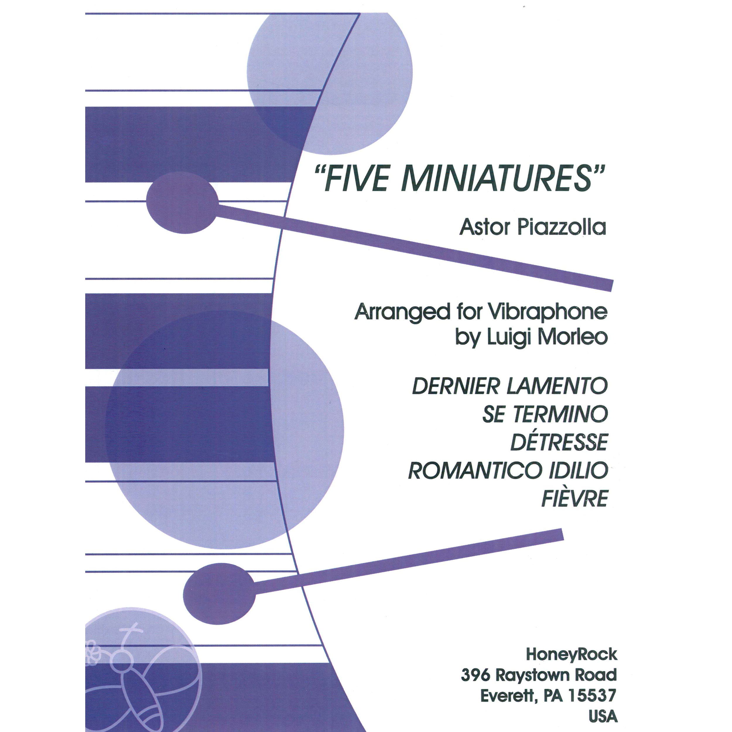 Five Miniatures by Astor Piazzolla arr. Luigi Morleo