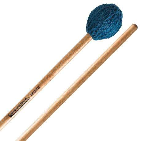 Innovative Percussion IP240 Soloist Series Medium Marimba Mallets with Lacquered Birch Shafts