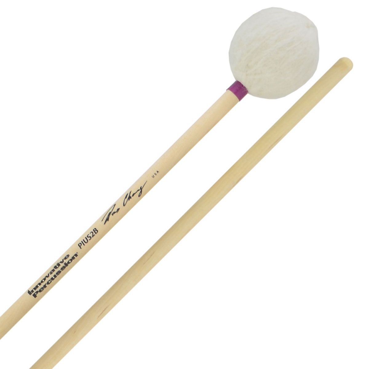 Innovative Percussion Pius Cheung Medium Soft Marimba Mallets with Birch Handles