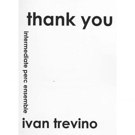 Thank You by Ivan Trevino
