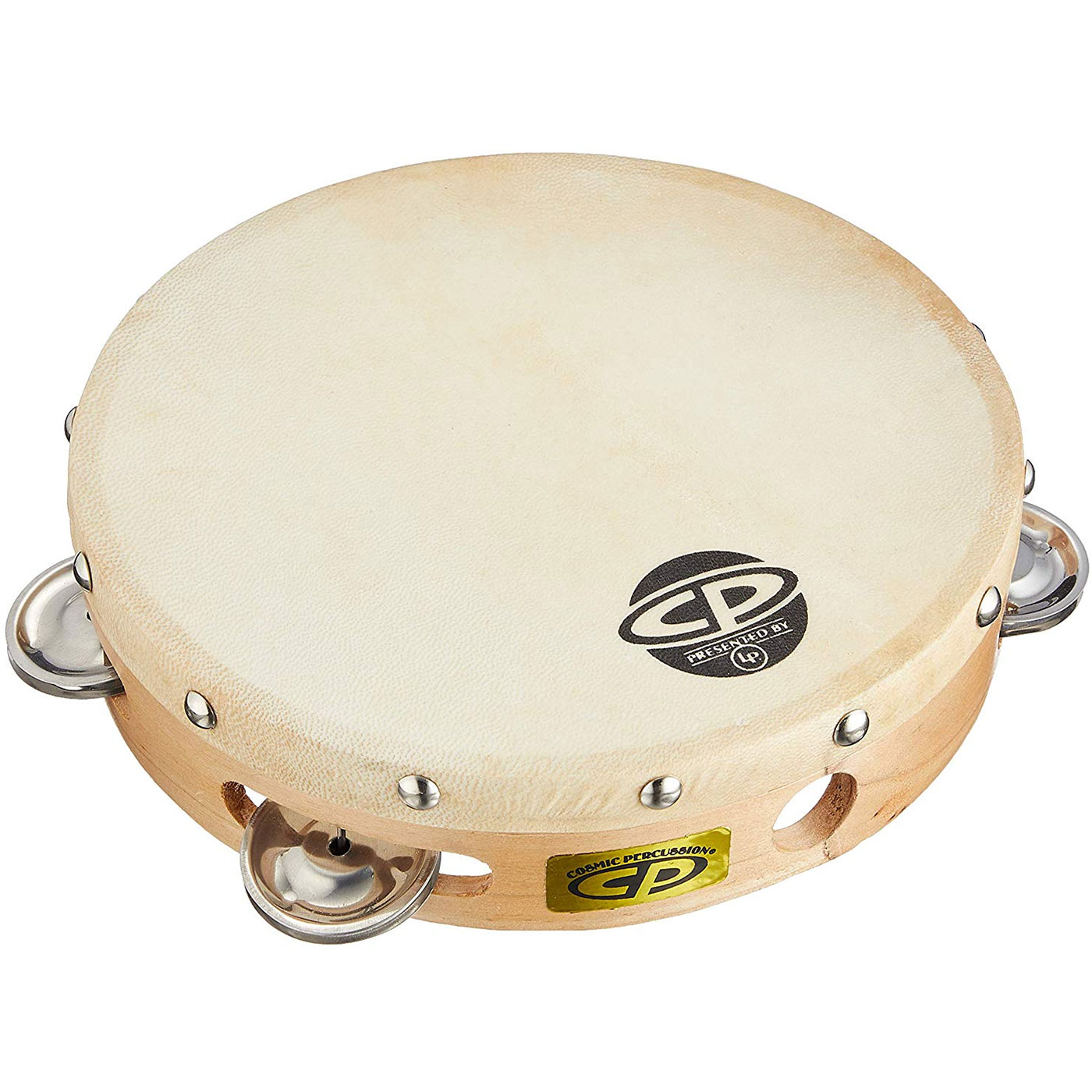 "Cosmic Percussion 8"" Single-Row Steel Tambourine (Natural Head)"
