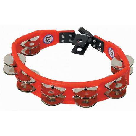 LP Mountable Red Cyclops Double Row Steel Tambourine