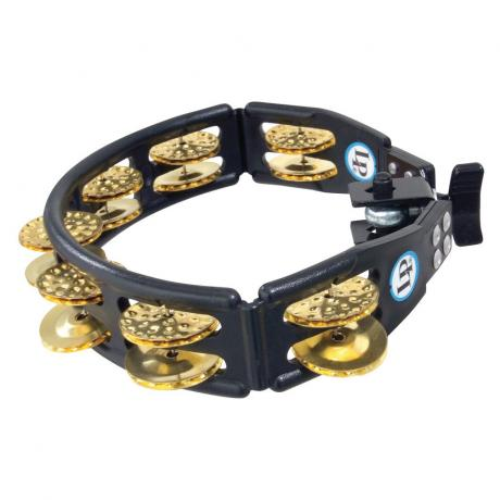 LP Mountable Black Cyclops Double Row Brass Tambourine