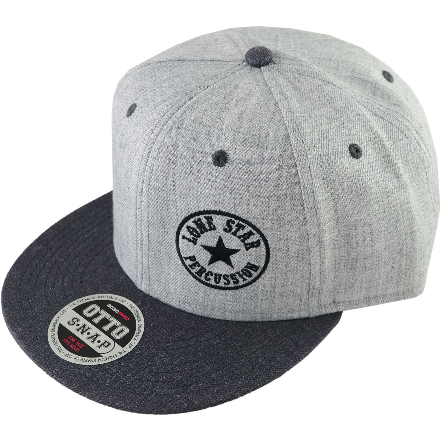 Lone Star Percussion Grayscale Snapback Baseball Cap