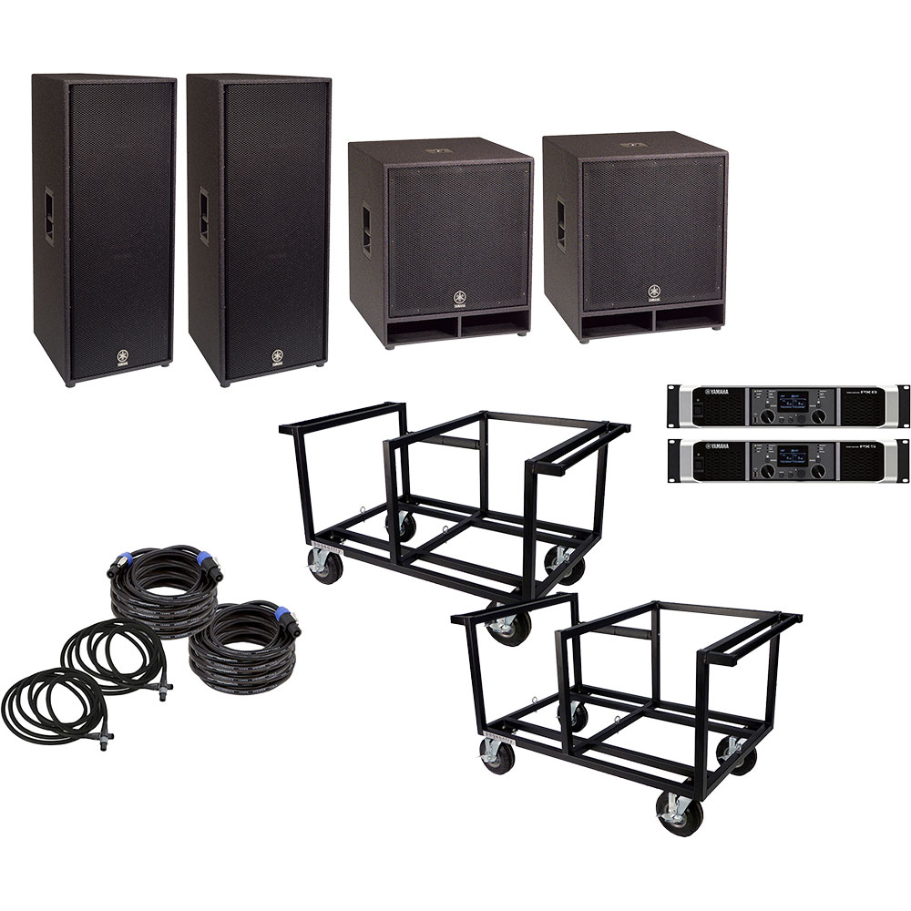 Lone Star Percussion 5000 Series Marching Audio Speaker/Amp/Cart Package