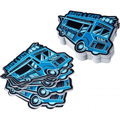 Lone Star Percussion Beats and Eats Food Truck Drummer Sticker