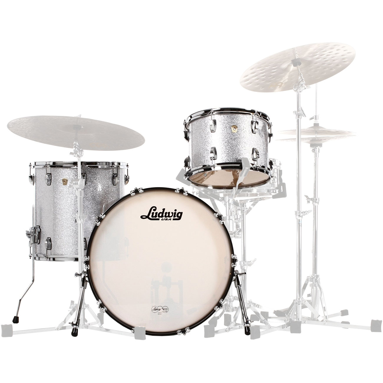 ludwig classic maple 3 piece fab drum set shell pack 22 bass 13 16 toms l84233ax. Black Bedroom Furniture Sets. Home Design Ideas