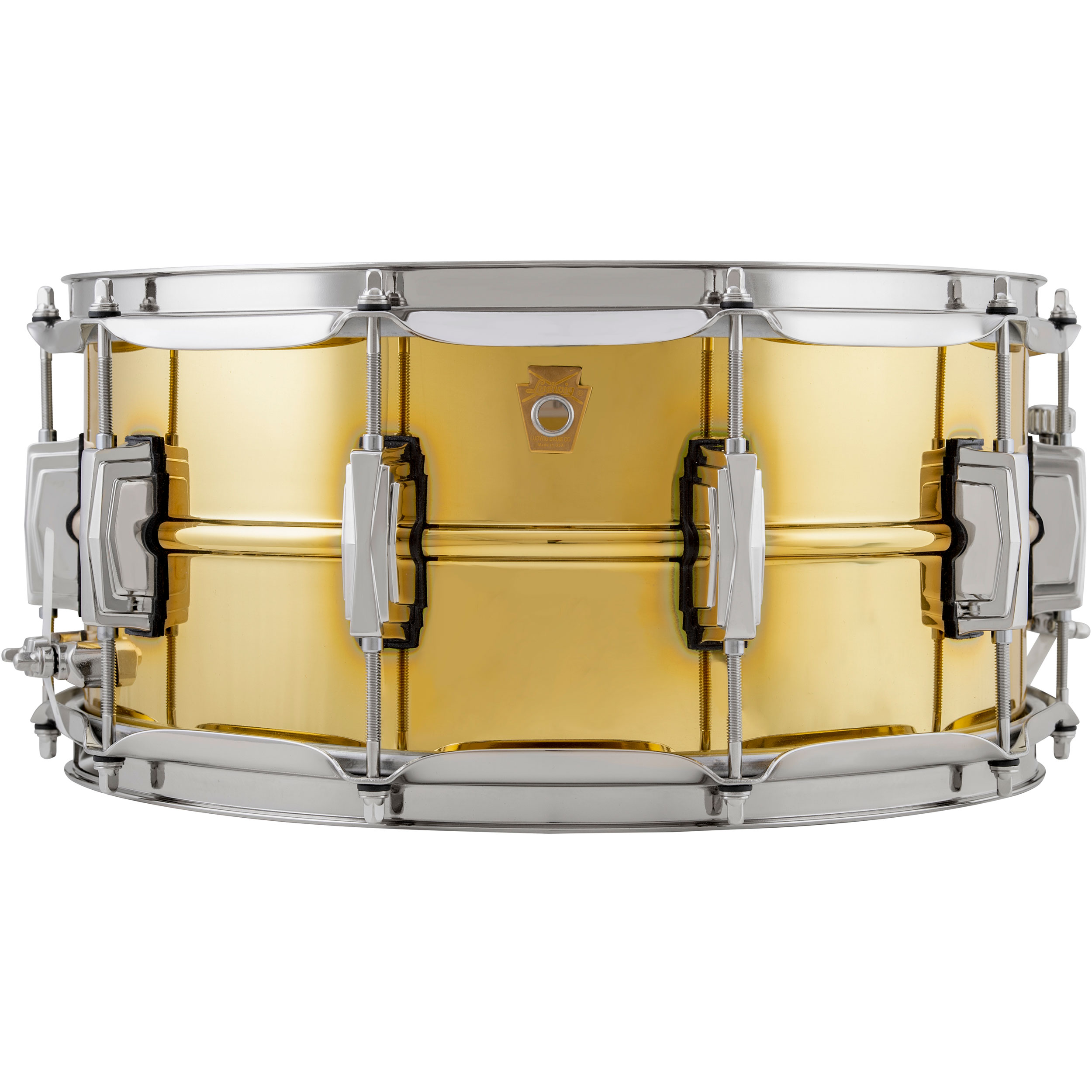 "Ludwig 6.5"" x 14"" Polished ""Super Brass"" Snare Drum with Nickel Hardware"