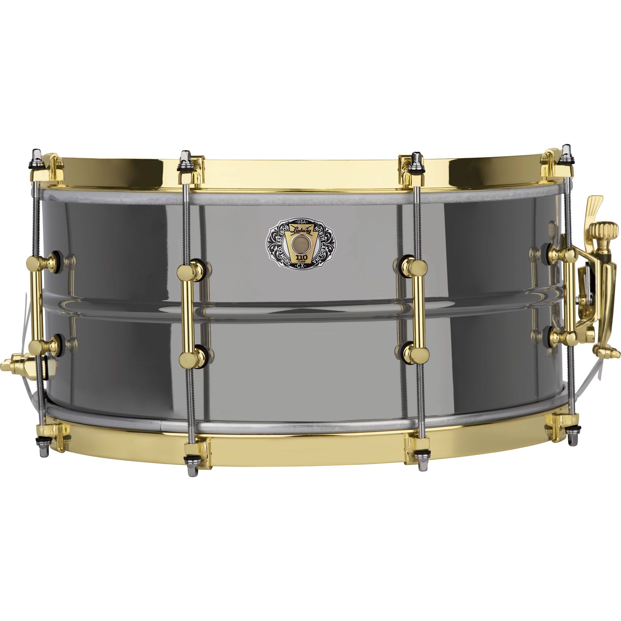 "Ludwig 6.5"" x 14"" 110th Anniversary Black Beauty Snare Drum with Brass Hardware"