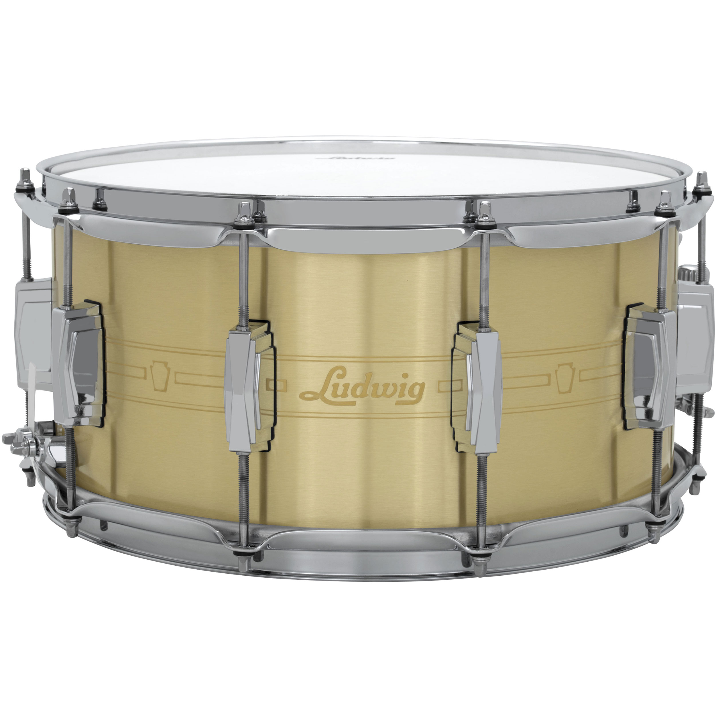 "Ludwig 7"" x 14"" 110th Anniversary 1mm Brass Heirloom Snare Drum"