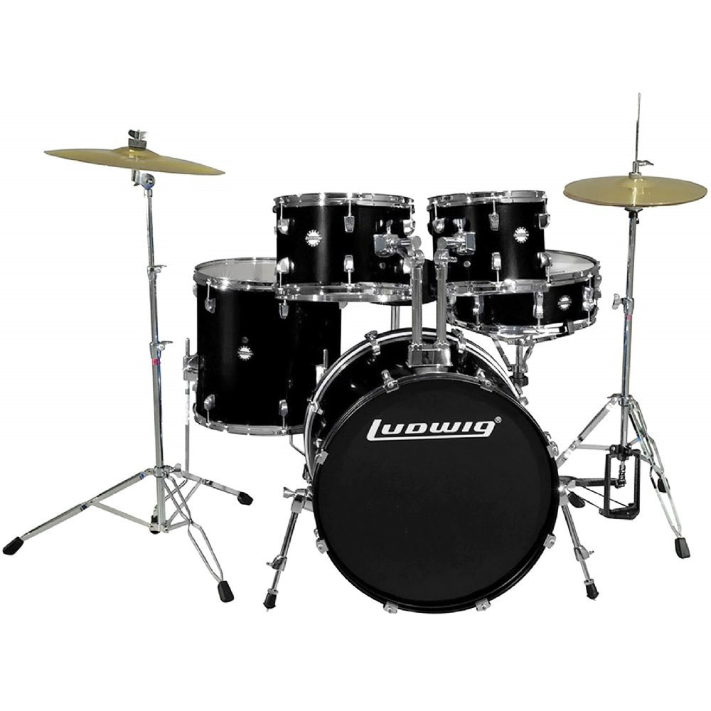 Ludwig Accent Fuse 5 Piece Drum Set With Hardware