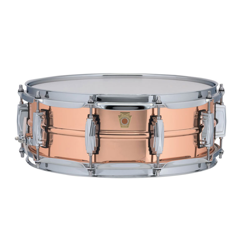"""Ludwig 6.5"""" x 14"""" Smooth Copper Phonic Snare Drum with Imperial Lugs"""