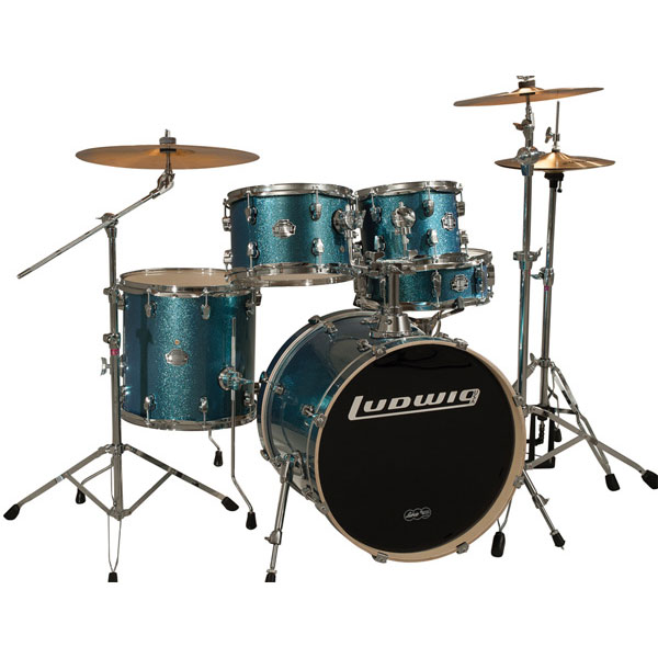 "Ludwig Element Drive 5-Piece Drum Set with Hardware & Cymbals (22"" Bass, 10/12/16"" Toms, 14"" Snare)"