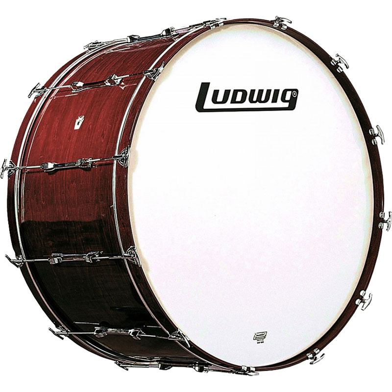 """Ludwig 16""""  x 32""""  Concert Bass Drum in Mahogany Stain (Drum Only, Undrilled)"""