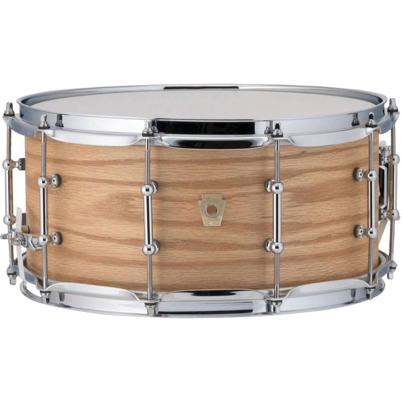 """Ludwig 6.5"""" x 14"""" Classic Maple Snare Drum with Tube Lugs in Natural Oak"""