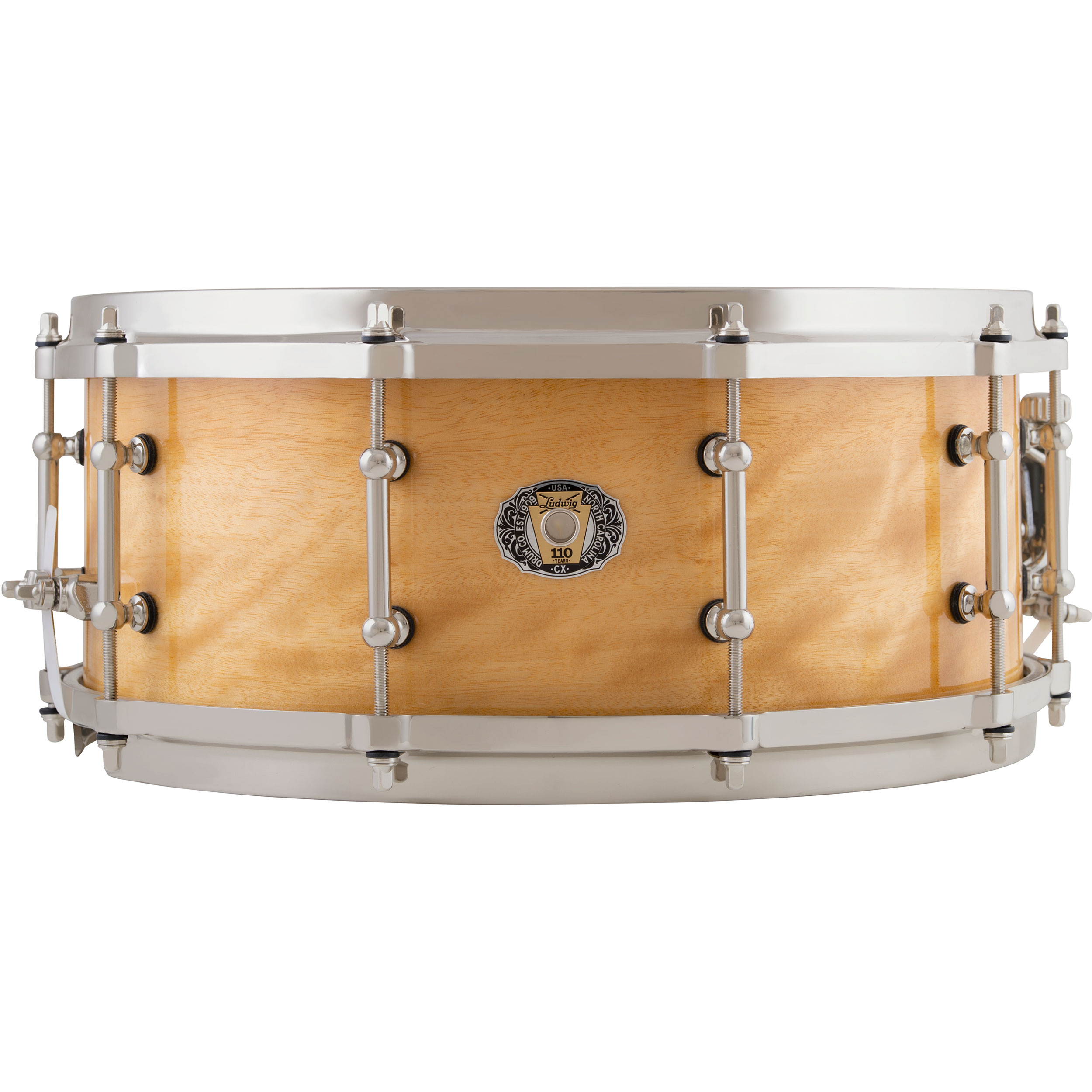 "Ludwig 5.5"" x 14"" 110th Anniversary Classic Maple Snare Drum in Exotic Avodire"