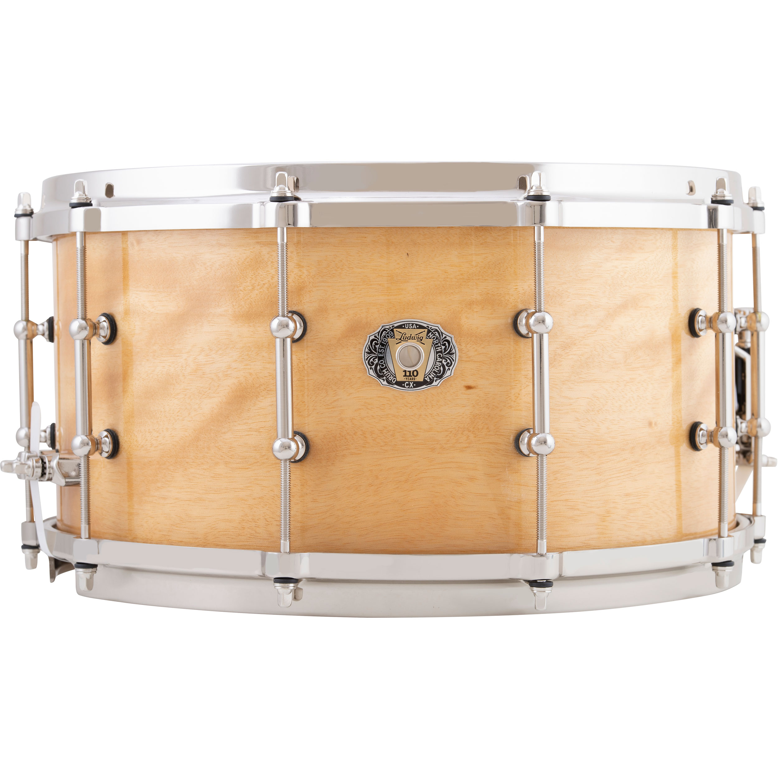 "Ludwig 7"" x 14"" 110th Anniversary Classic Maple Snare Drum in Exotic Avodire"