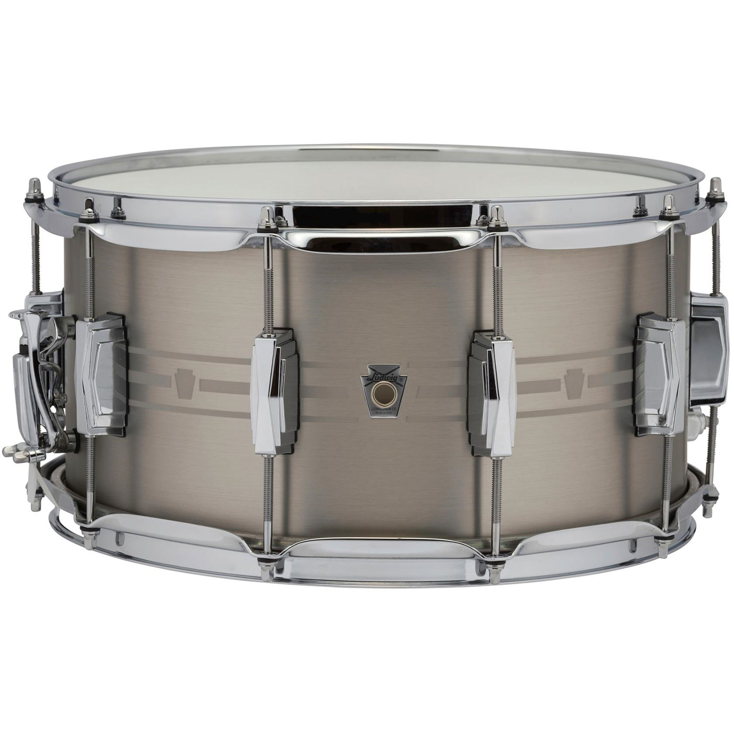 "Ludwig 7"" x 14"" Heirloom Stainless Steel Snare Drum"