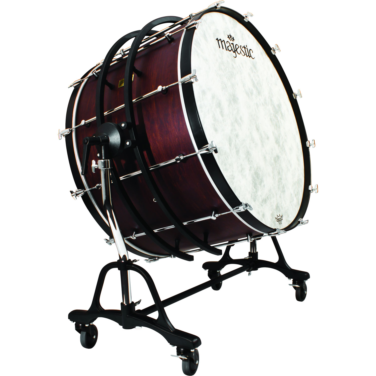 "Majestic 32"" (Diameter) x 18"" (Deep) Prophonic Concert Bass Drum with SSB Suspended Concert Tilting Stand"