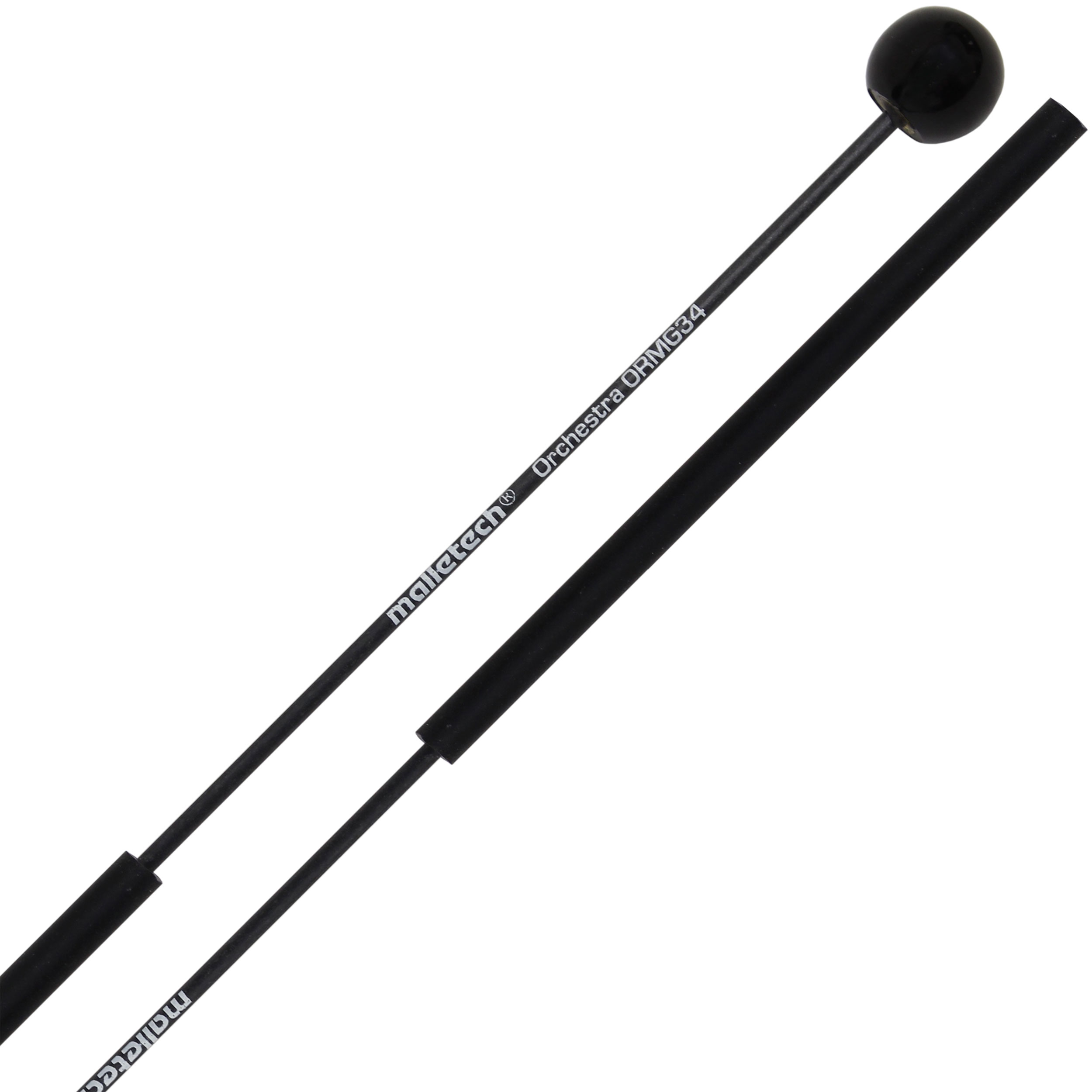 "Malletech Orchestral Series 1/2"" Black Mini-Glock Mallets with Extra Thin Fiberglass Shafts"