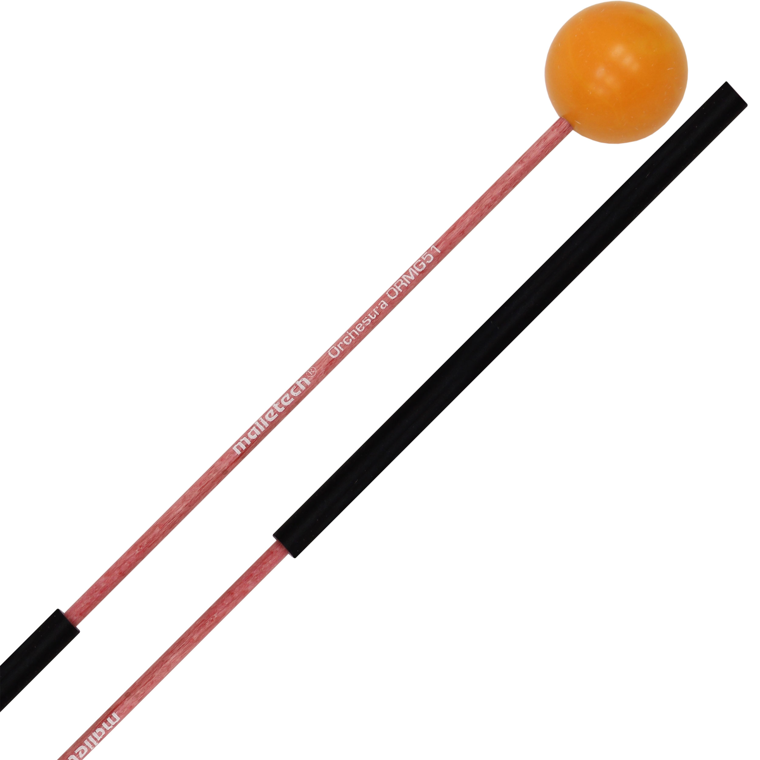 "Malletech Orchestral Series 1"" Orange Mini-Glock Mallets with Thin Fiberglass Shafts"