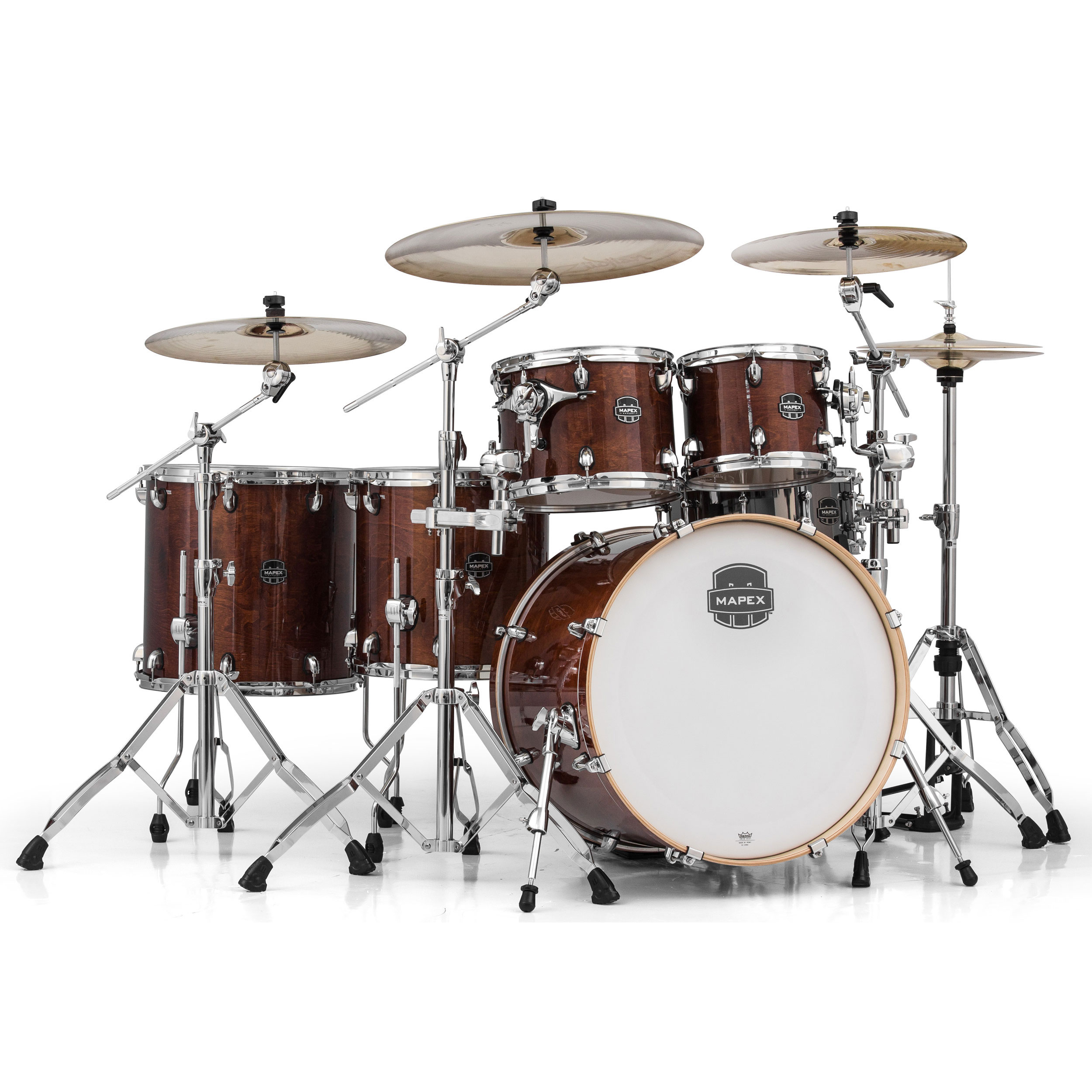 mapex armory 6 piece studioease drum set shell pack 22 bass 10 12 14 16 toms 14 snare. Black Bedroom Furniture Sets. Home Design Ideas