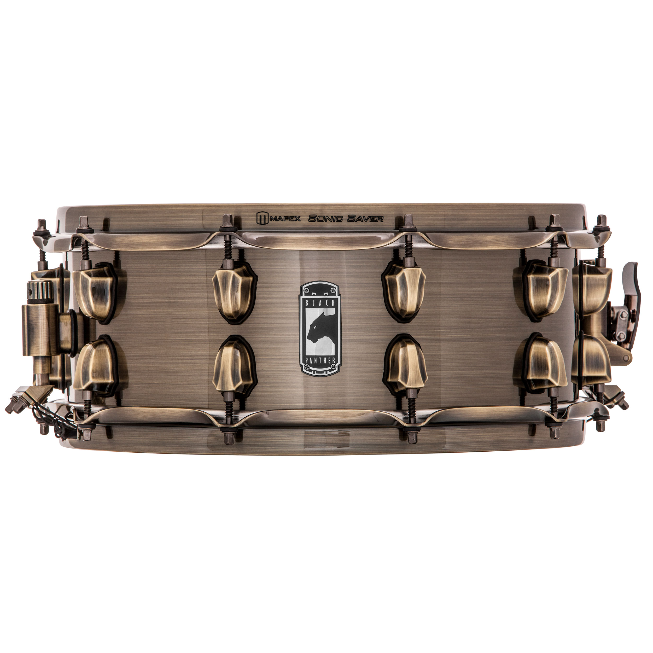 "Mapex 14"" x 5.5"" Black Panther Brass Cat Snare Drum"