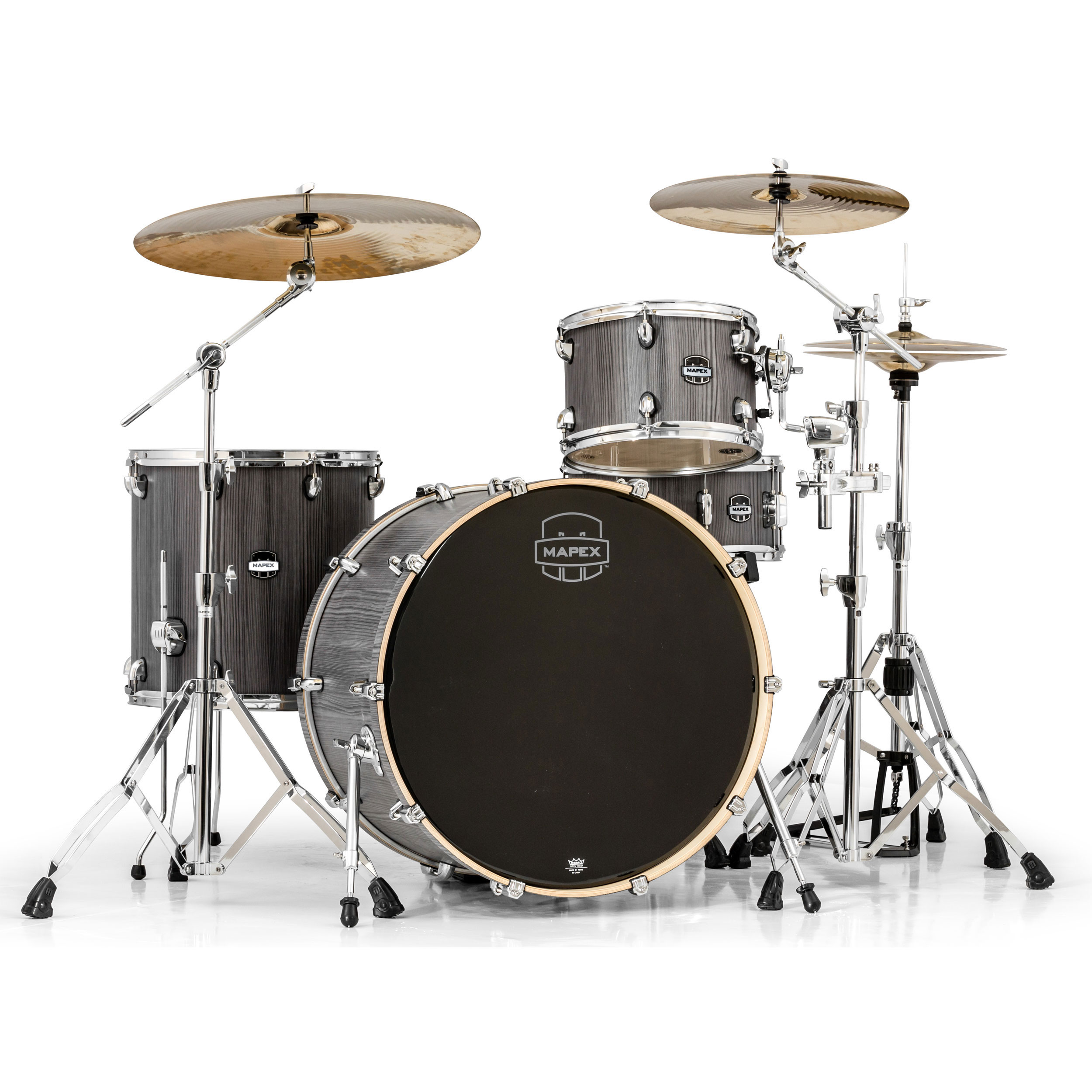 mapex mars 4 piece rock 24 drum set shell pack 24 bass 12 16 toms 14 snare ma446s. Black Bedroom Furniture Sets. Home Design Ideas