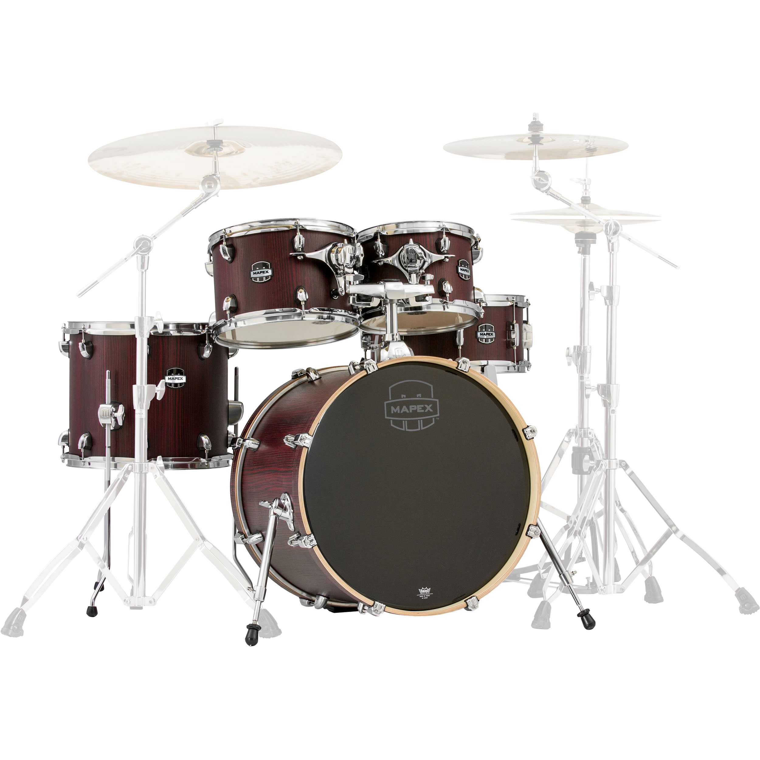 "Mapex Mars 5-Piece Fusion Drum Set Shell Pack (20"" Bass, 10/12/14"" Toms, 14"" Snare) in Bloodwood (Used)"