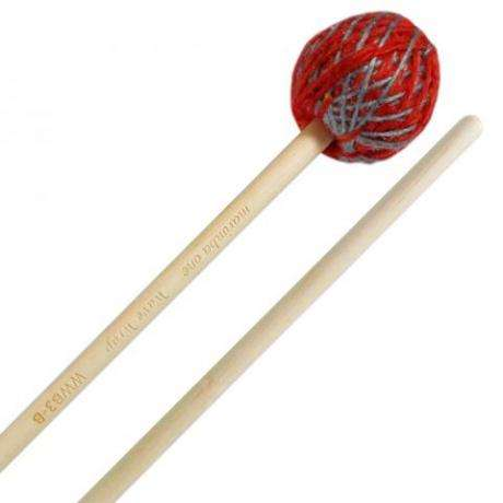 Marimba One Wave Wrap Medium Marimba Mallets with Birch Shafts
