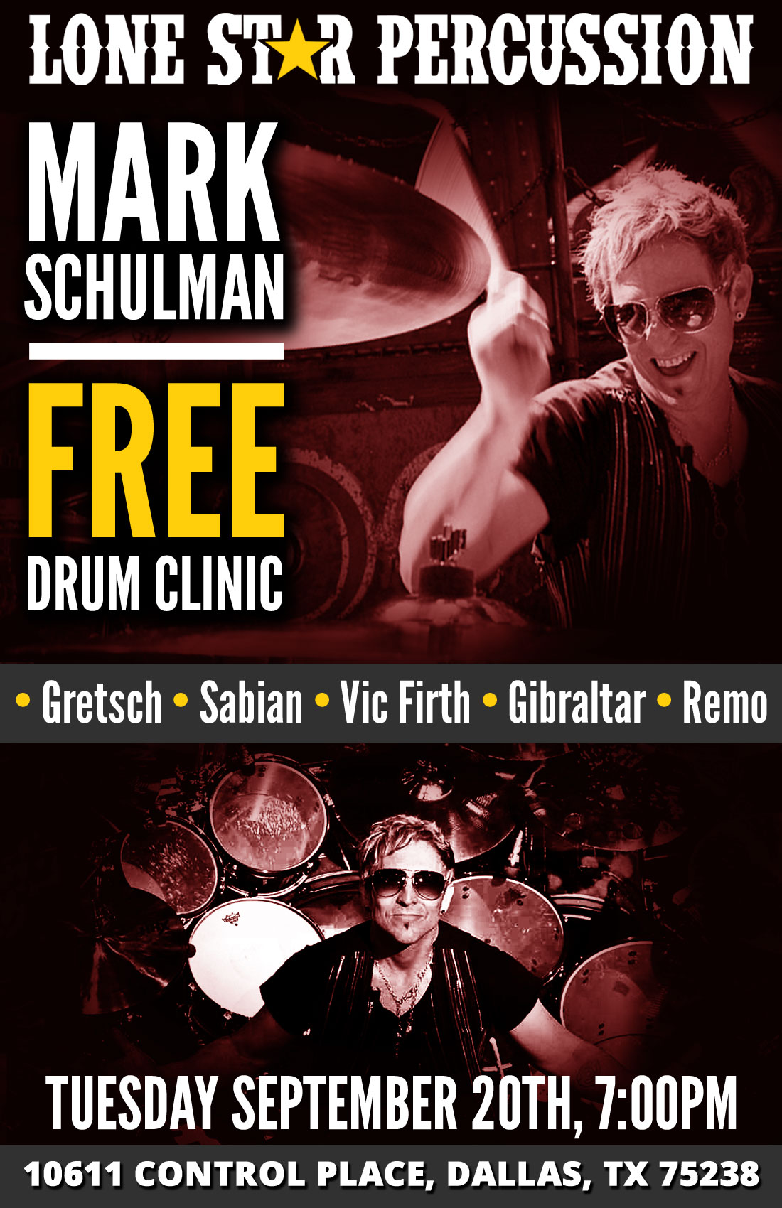 FREE Clinic: Mark Schulman, Tuesday September 20th, 7:00pm